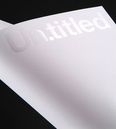 Un.titled ID on the Behance Network #letterhead
