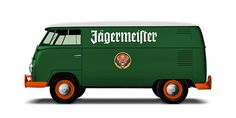VW T1 « TWWHLSPLS #bus #red #jagermeister #retro #vw #green