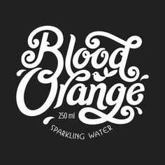 Blood Orange by Luke Lucas #type #typography