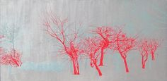 Molly Briggs: North Avenue Paintings at Zg Gallery, Chicago #trees #molly briggs
