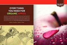 Valent Organics Spread Print Ad for Apples | Flickr - Photo Sharing! #apple #design #advertising #art #layout #organic #agriculture