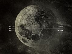 Ghost of York / Earth / Moon #astro #moon #space #photographic #grunge #texture #type #scale