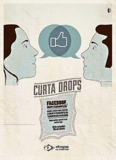 Facebook Drops | Flickr - Photo Sharing! #moustache #facebook #idea #drops #bigode
