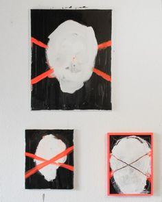 Daniel Gumbert #art #paint #skull #neon