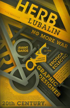 Herb Lubalin & Avant Garde Tribute Poster 09' on Behance #type #specimen #poster