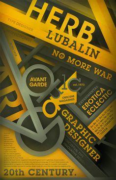 Herb Lubalin & Avant Garde Tribute Poster 09' on Behance