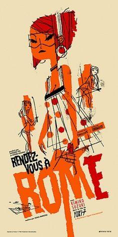 Fleet Street Scandal #rome #rendezvous #roman #kevin #illustration #poster #dart