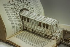 Train Paper Sculpture #sculpture #paper #art