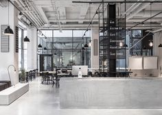 Usine Restaurant by Richard Lindvall #restaurant #interior #Stockholm #concrete