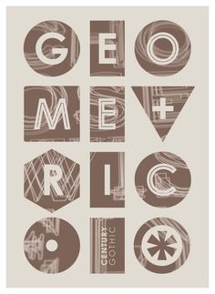 Tom Davie | Type 2011 #geometry #poster #typography