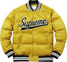 Supreme F/W 2016 | Script Varsity Puffy Jacket