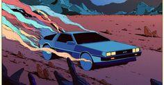 Sci fi retro illustrations by Kilian Eng