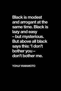 Black #type #yohji #yamamoto