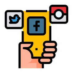See more icon inspiration related to facebook, instagram, share, phone, ui, social media, marketing, smartphone, mobile, mobile phone, communication, exchange, electronics, communications, exchanging, files and technology on Flaticon.