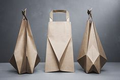 Origami inspired paper bags