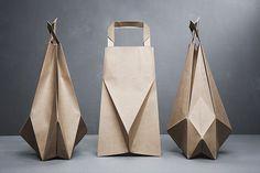 Origami inspired paper bags #origami #paper bag
