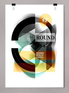 Graphic design inspiration #geometric #poster #typography