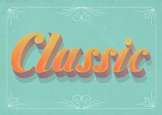 #Classic #lettering #illustration