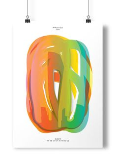 Poster Project #ooze #paint #poster #type #drip #multicolour