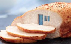 Mysterious Doorways into Foods #ham #turkey #surrealism #photography #concept