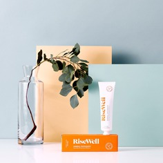 RiseWell - Mindsparkle Mag Ash Co. Studio designed Risewell – a natural toothpaste that's backed by real science. #logo #packaging #identity #branding #design #color #photography #graphic #design #gallery #blog #project #mindsparkle #mag #beautiful #portfolio #designer