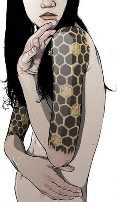 2008 - 2007 : Ghostco #girl #ghostco #illustration #tattoo #beehive