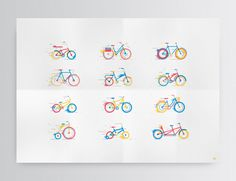 Bicicletas on Behance #illustration