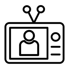 See more icon inspiration related to professions and jobs, mass media, news report, electronics, news, television, communications, user and media on Flaticon.
