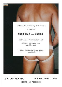"""Maripola X"" Male Invitation www.llapnyc.com #limited #edition #invitation #nude #print #design #graphic #book #contemporary #polaroid #launch #publishing #photography #maripol #art"