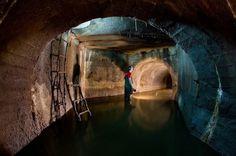 Photo by Steve Duncan steve@undercity.org (646) 734 7067 #underground #city #tunnel #photography #beautiful #dark #sewer