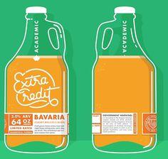 Academic Brewery Growler #beer #packaging #illustration