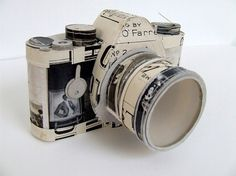 An Artist Who Sews Paper Into 3-D Sculptures | Co. Design #papercraft #camera #paper