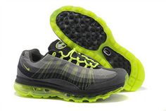 Air Max 95 360 Black Grey Volt Nike Mens Shoe #shoes