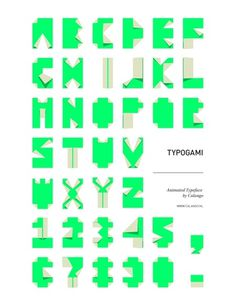 Área Visual: Typogami: Tipografía del Estudio de Diseño Calango #design #typo #poster #typography