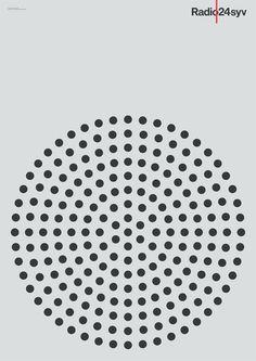 Radio24syv Posters Mega Design #poster #geometry #pattern #radio #circle #dots