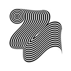 two #op #optical #opart #design #custom #tipography #black #two #grinani #number #art #ribbon #type #franco