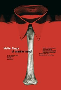 Carteles : Isidro Ferrer #ferrer #huesca #spain #red #theatre #bone #shirt #isidro #poster