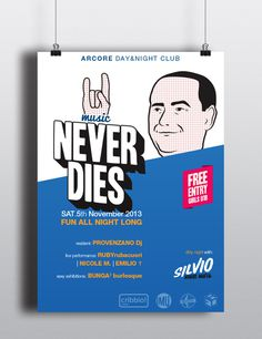 Silvio Never Dies Music poster on Behance