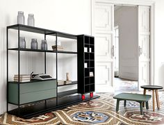 Literatura Open Bookcase by Punt Mobles - #design,#furniture,#modernfurniture, design, furniture