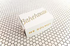 Top of the Box for baked goods at Mr Holmes Bakehouse #design #food #identity #gold #foil