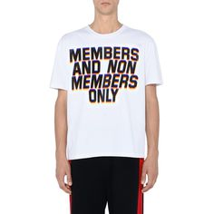 White Members Print T-shirt - STELLA McCARTNEY MEN