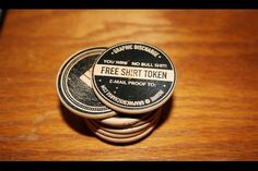Graphic Discharge #object #wood #nickels #promo