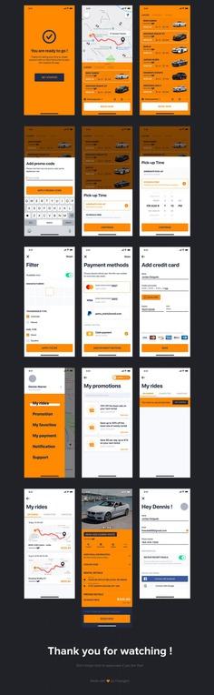 JONGO – Sketch Car Rental App by hoangpts