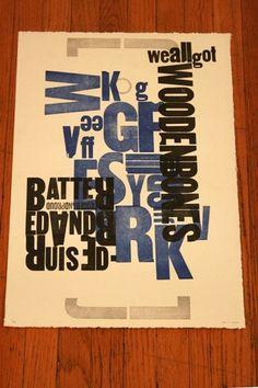 n.wise #print #letterpress #poster