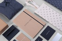 Founded   |   http://wearefounded.com/ #branding #clean #brand #system #identity #navy #clever