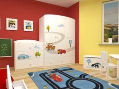 Pokój dla małych miłośników samochodów. Zobacz więcej na https://www.meblik.pl/kolekcja/cars/