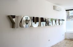youmakeme4.jpg (JPEG Image, 600 × 391 pixels) #lettering #installation #environmental #type #typography