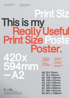 Print-Process / Product / Print sizes #creative #process #print #grid #poster #mash #typography