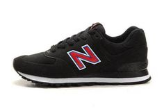 Mens new balance MS574UF Sonic Red Black Shoes