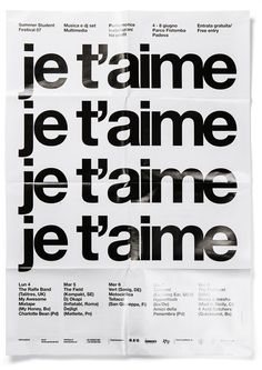 JE VAIS DANCER SSF_2007 Poster by Experimental Jetset #grid #helvetica #poster